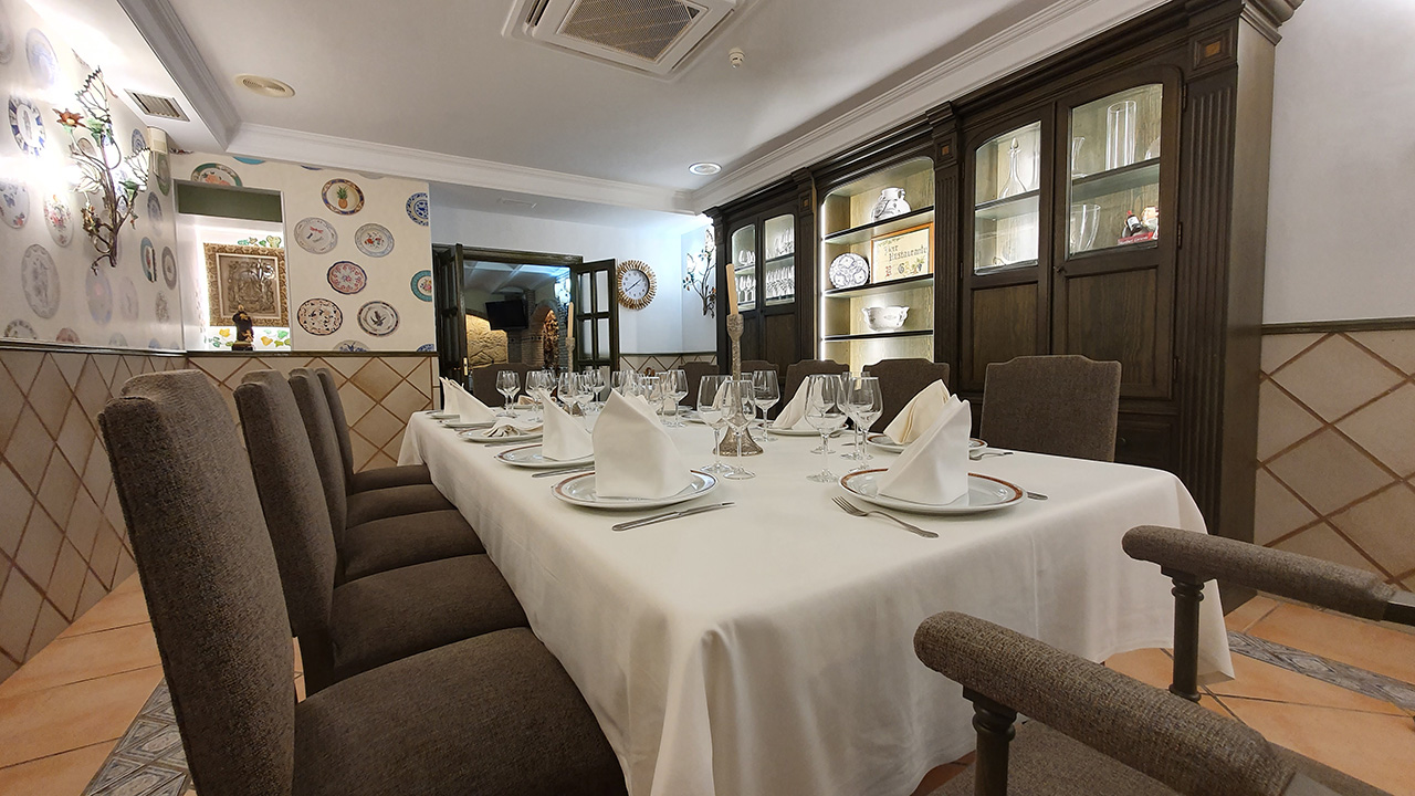 Restaurante-Vega-Haro. Comedor Privado.